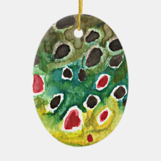 Brown Trout Fish Christmas Ornament