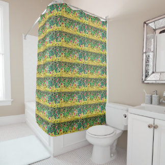 Brown Trout Fishing Bathroom Shower Curtain