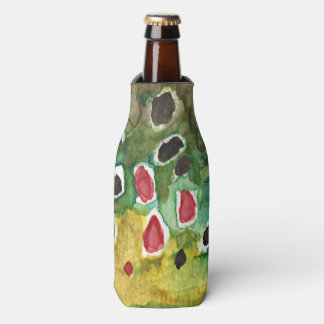 Brown Trout Fishing Bottle Cooler