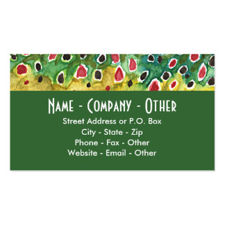 Brown Trout Fishing Pack Of Standard Business Cards