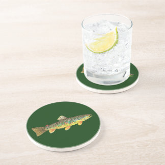 Brown Trout Fishing Coaster