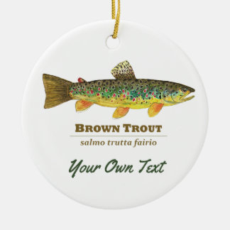 Brown Trout Fishing, Ichthyology Christmas Ornament