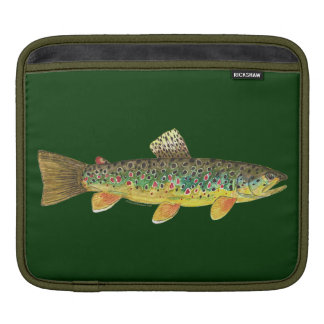 Brown Trout Fishing iPad Sleeve
