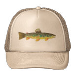 Brown Trout Fishing Mesh Hats