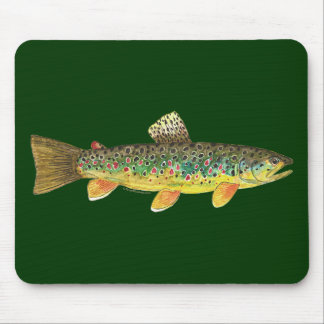 Brown Trout Fishing Mouse Pads