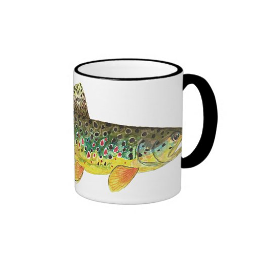 Brown Trout Fishing Coffee Mugs