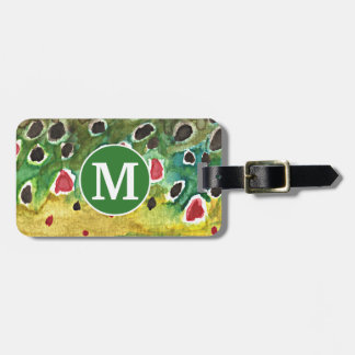 Brown Trout Fly Fishing Fisherman's Bag Tag