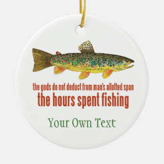 Brown Trout Fly Fishing Fisherman's Christmas Ornament