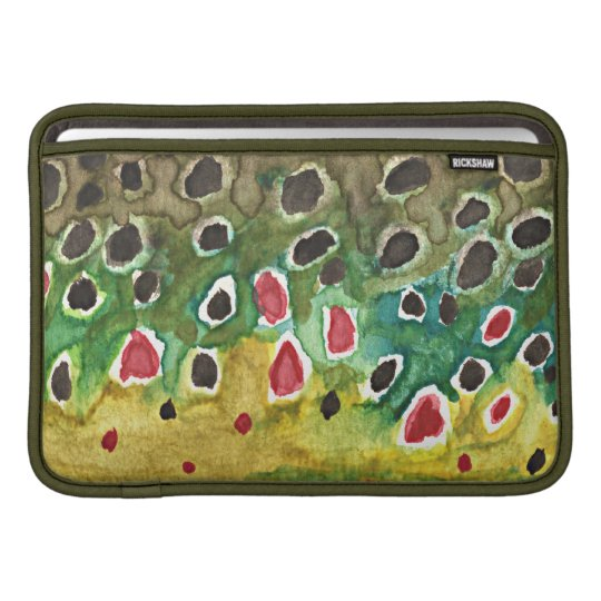 Brown Trout Fly Fishing MacBook Sleeve
