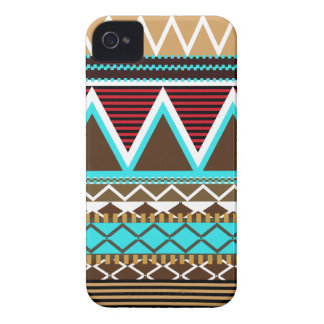 Brown & Turquoise Tribal iPhone 4 Covers