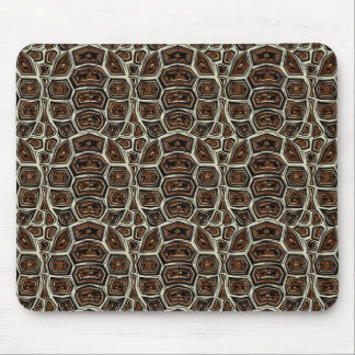 Brown Turtle Shell Pattern Mouse Mat