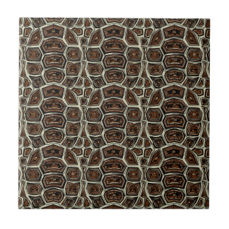 Brown Turtle Shell Pattern Tile
