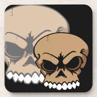 Brown Vector Skull Cork Coaster