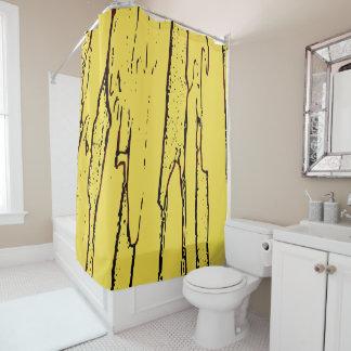 Brown Vertical Abstraction Bathroom Decor Curtain