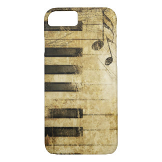 brown vintage music piano keyboard art iPhone 8/7 case