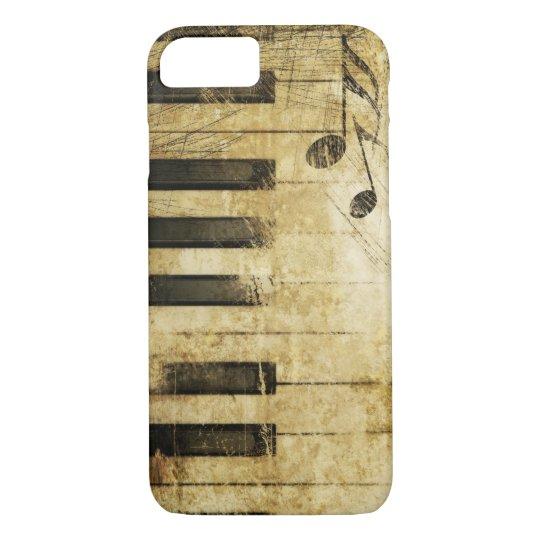 brown vintage music piano keyboard art iPhone 8/7 case