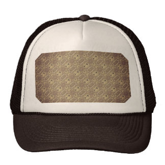 Brown Vintage Palm Abstract Pattern Trucker Hat