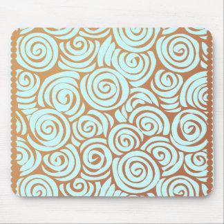Brown Vintage Swirl mousepad