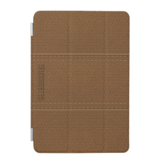 Brown Vintage Worn-Out Faux Leather Look iPad Mini Cover