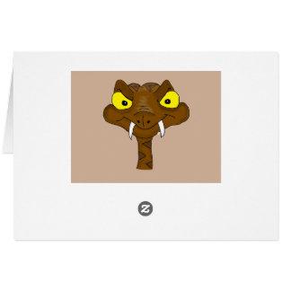 Brown viper card