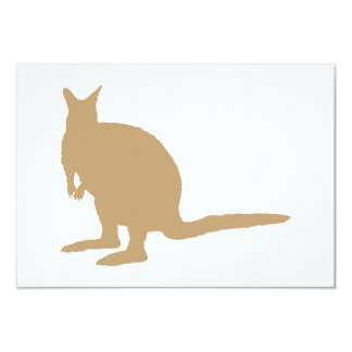 Brown Wallaby. Card