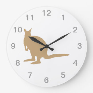 Brown Wallaby. Large Clock