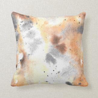 Brown Watercolor Pillow. Unique Throw Pillows