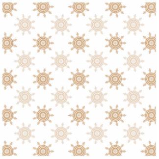 Brown Wheel Cogs Fractal Circles Pattern Cut Out