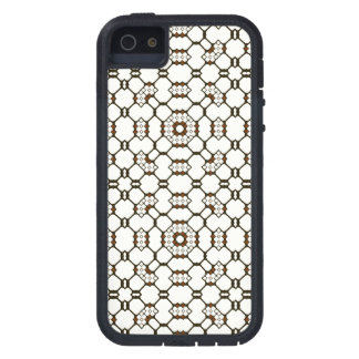 Brown White Black Geometric Circuitry Dots Squares iPhone 5 Cases