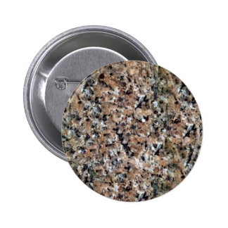 Brown White Black Granite Stone Texture 6 Cm Round Badge