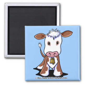 Brown & White Cow Magnet
