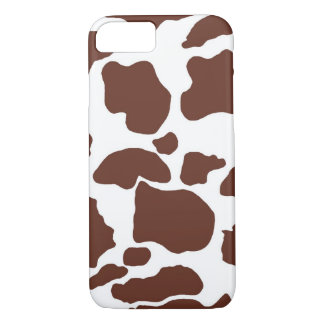 Brown White Cow Print iPhone 7 Case