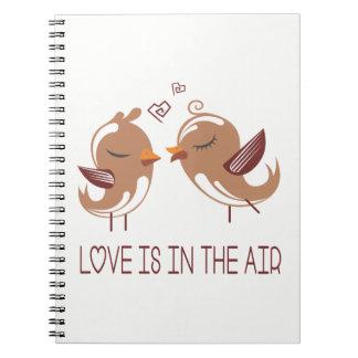 Brown & White  Lovebirds - Wedding Engagement Love Notebook