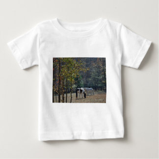 Brown &White Painted Horse and Cream Horse Baby T-Shirt
