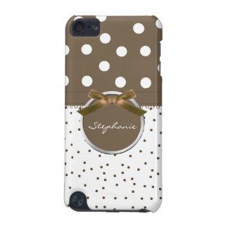 Brown & White Polkadots iPod Case iPod Touch 5G Case