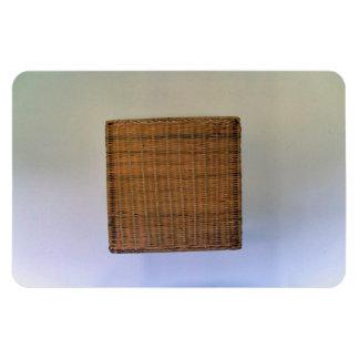 Brown Wicker Texture Flexible Magnets