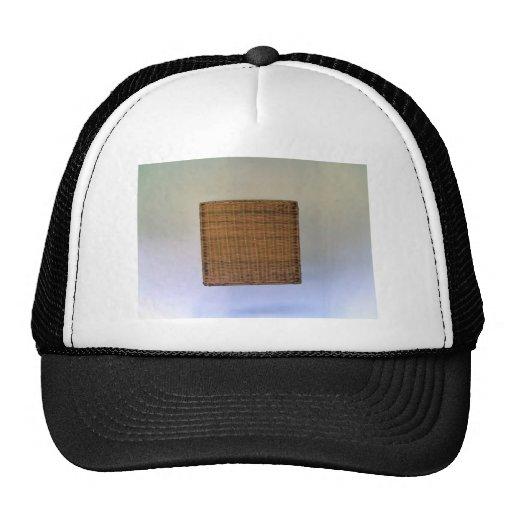 Brown Wicker Texture Hat