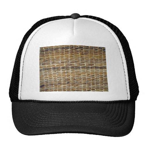 Brown Wicker Texture Trucker Hat