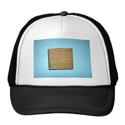 Brown Wicker Texture Hats