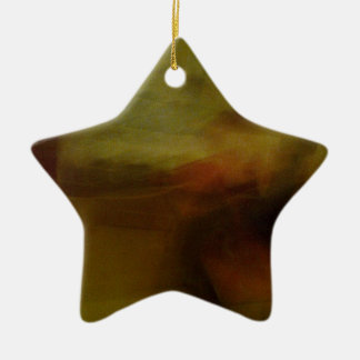 Brown wiping sample with colour tone ceramic star decoration