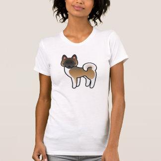 Brown With Black Mask Cartoon Akita T-Shirt