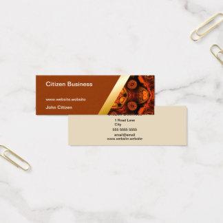 Brown with orange kaleidoscope business card 9