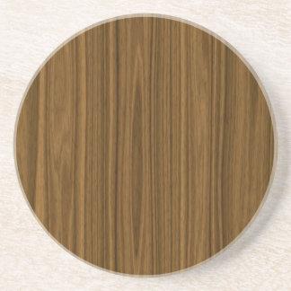 Brown Wood Coaster