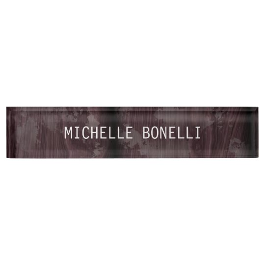 Brown Wood Design Background Plain Legible Modern Nameplate