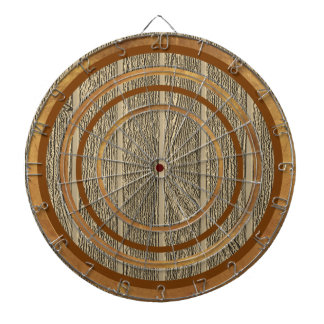 Brown Wood Design Custom Regulation Dart Board
