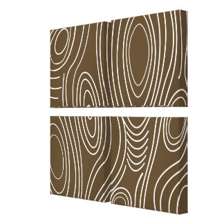 Brown Wood Grain Abstract Modern Art Gallery Wrapped Canvas