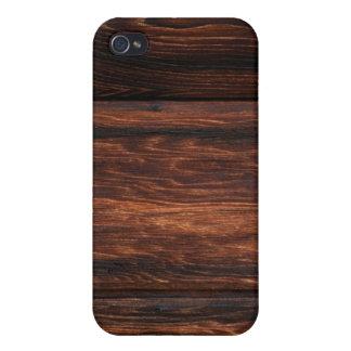 Brown Wood Grain ed  iPhone 4 Cover
