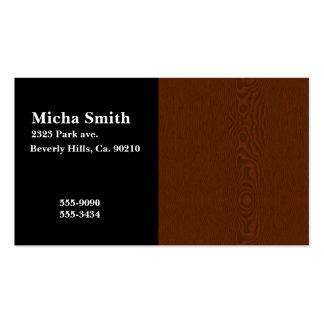 Brown Wood Grain Monogram Business Card