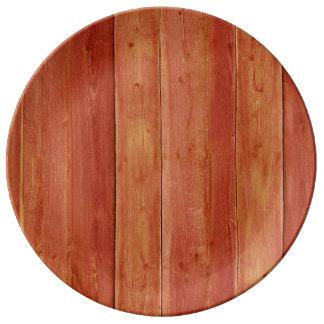 Brown Wood Image Plate