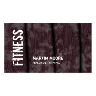 Brown Wood Special Modern Fitness Personal Trainer Pack Of Standard Business Cards